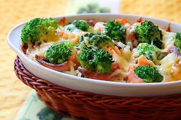 овощи с соусом бешамель