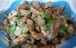 Жареные баклажаны в сметанном соусе