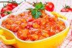 Фасоль с овощами, консервированная без уксуса