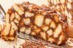 Торт без выпечки из печенья, со сгущенкой