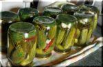Остро-сладкие консервированные огурцы