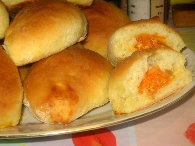 Пирожки с морковью