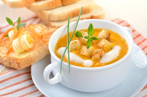 суп-пюре с сыром