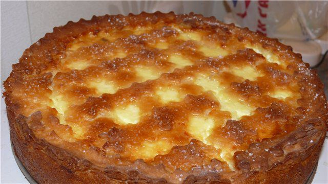 Пирог с глазированными сырками