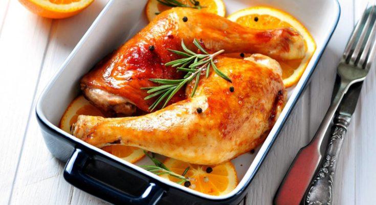 Приготовление курицы в апельсиновом соусе